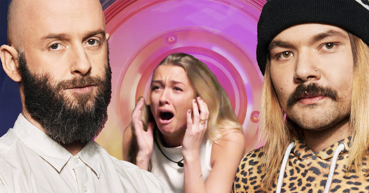 Daniel Glasman, Jasmine Armstrong och Sami Jacobsson i Big Brother 2020.