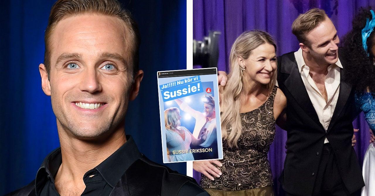 Calle Sterners lycka med Sussie Eriksson i Let's dance 2020