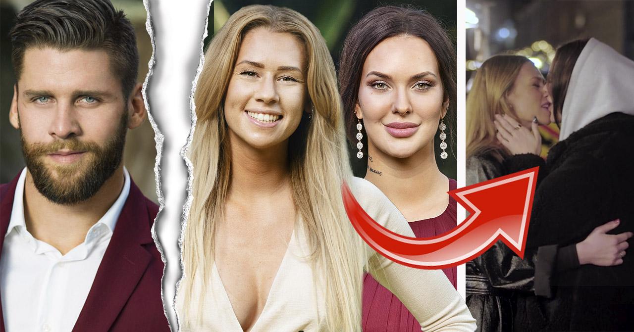 Hannah Forsdahl och Emmy Rönning dejtade Simon Hermansson i TV4:s Bachelor, men sedan fann de varandra i TV3:s Hemliga beundrare.