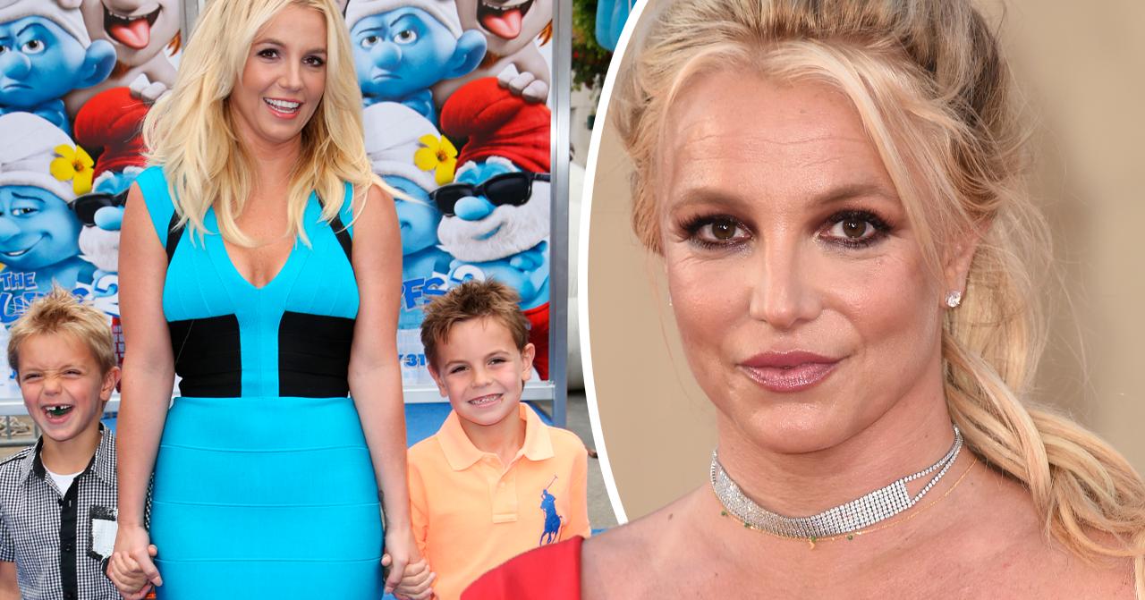 Britney Spears och barnen Jaden James Federline och Sean Federline