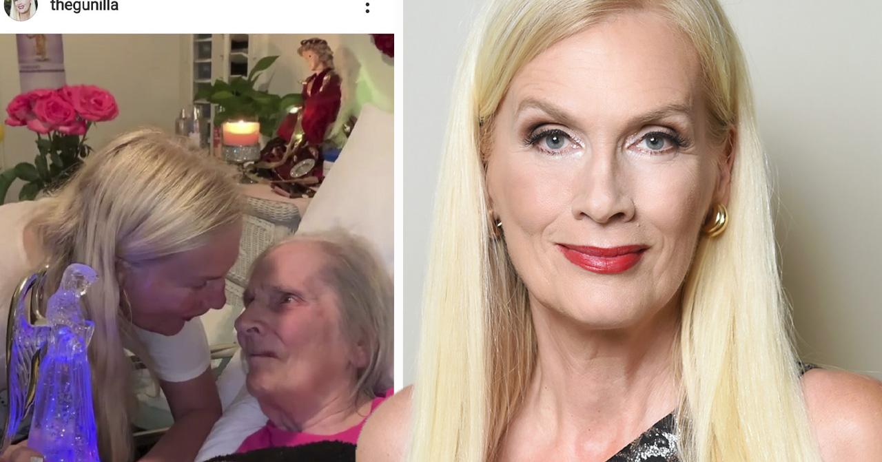 Gunilla Perssons hälsning efter följarnas oro för mamma Iris