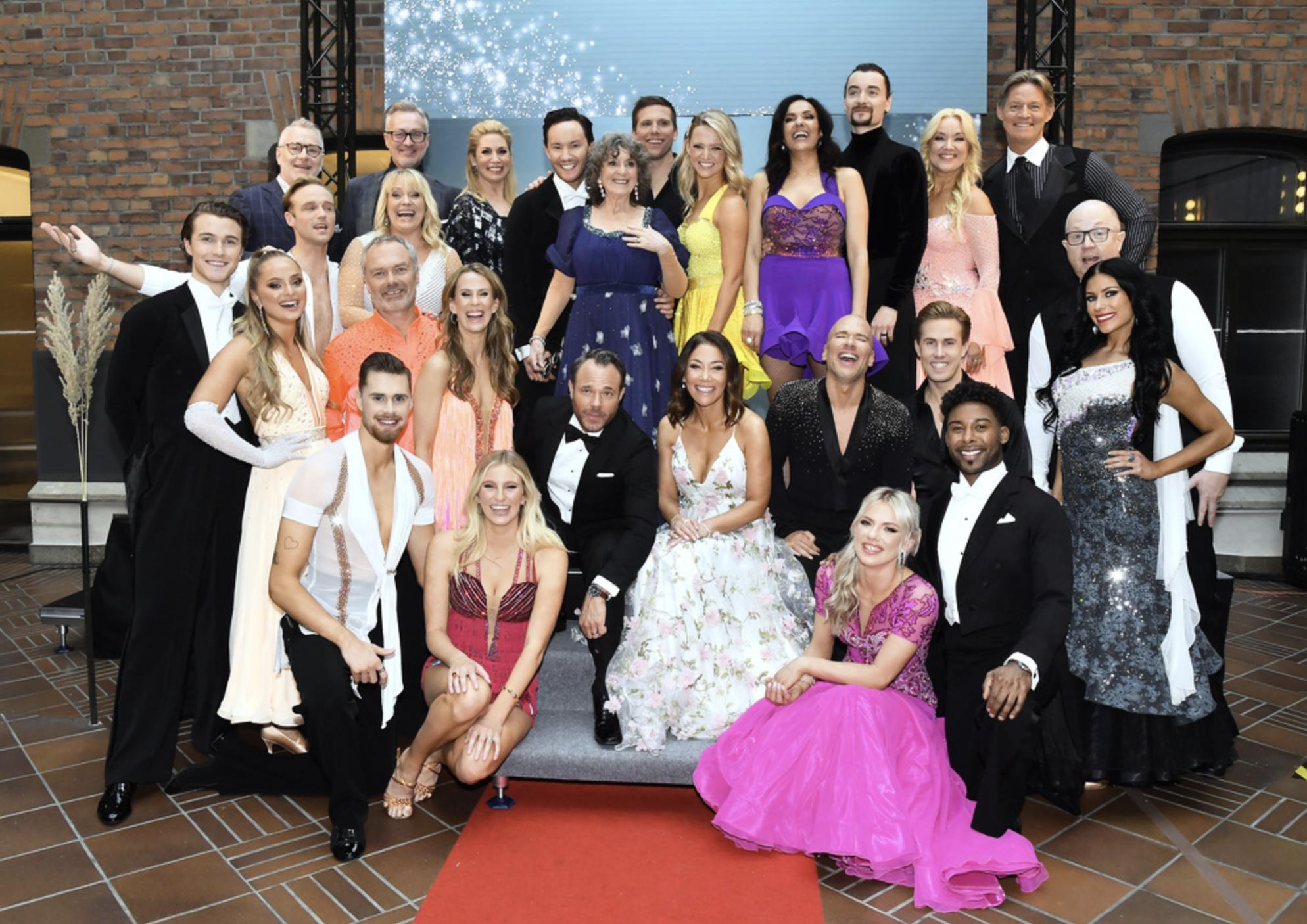 Alla deltagare och danspartners i Let's dance 2020