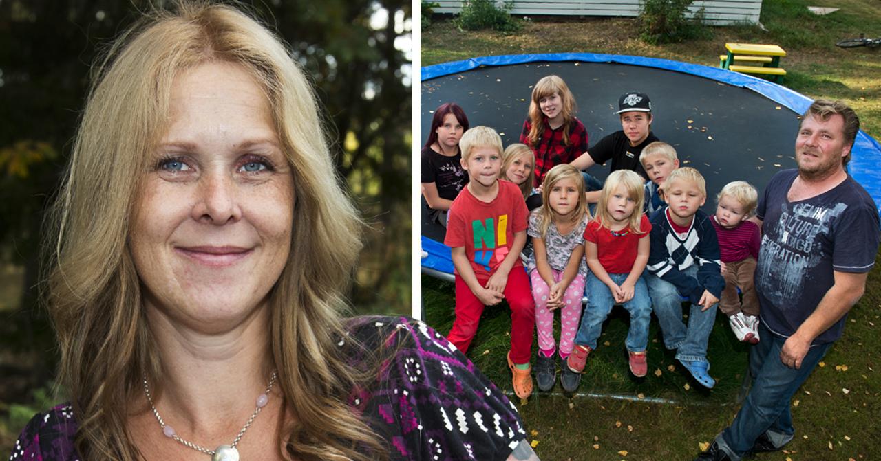 """13-barnsmamman Mirka Norrströms nya ord om stora familjelyckan: """"Verkligen den rätte för oss"""""""