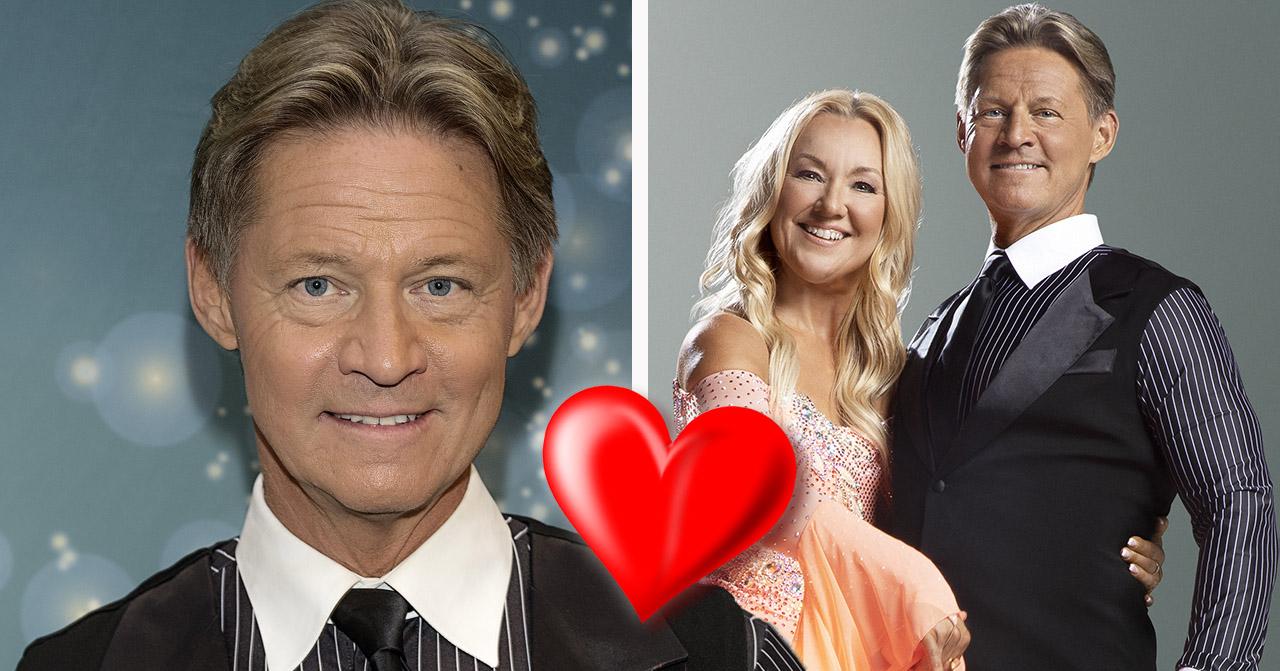 Mikael Sandström och danspartnern Malin Wilson.