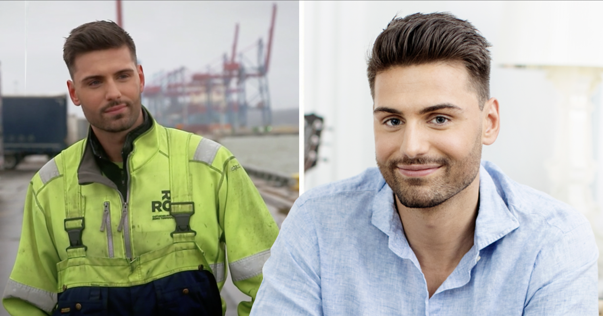 William Karlsson, Bachelor 2020 jobbar i hamnen
