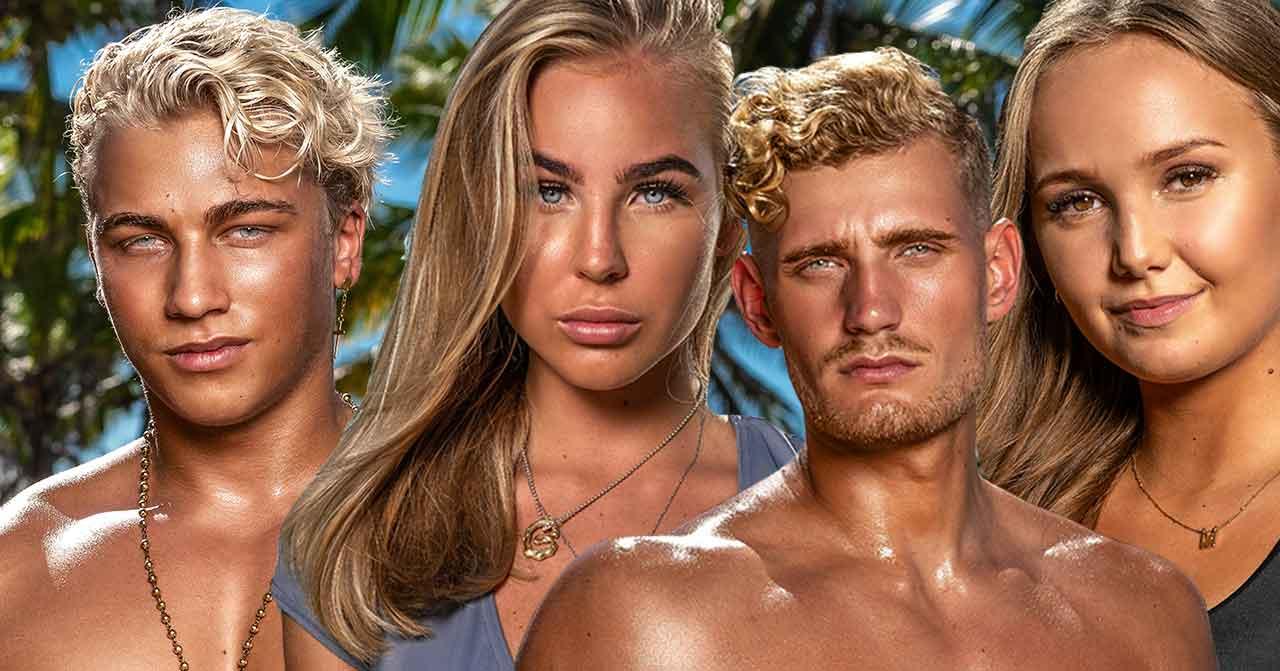 Toby, LIsa, Marcus och Alice i Paradise Hotel