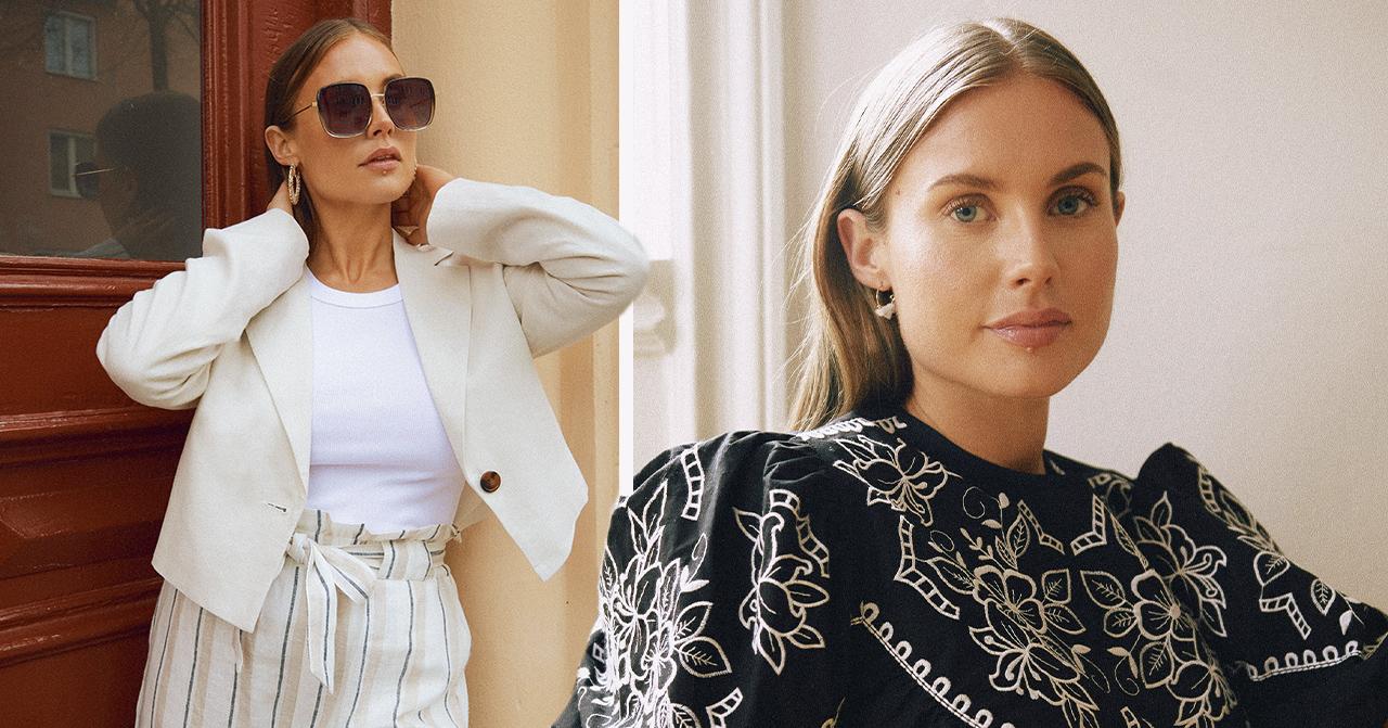 Maja Nilsson Lindelöf i solglasögon och vita kläder