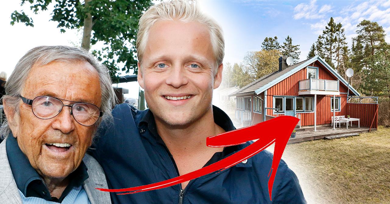 Arne Weise och Andreas Weise och familjens sommarhus