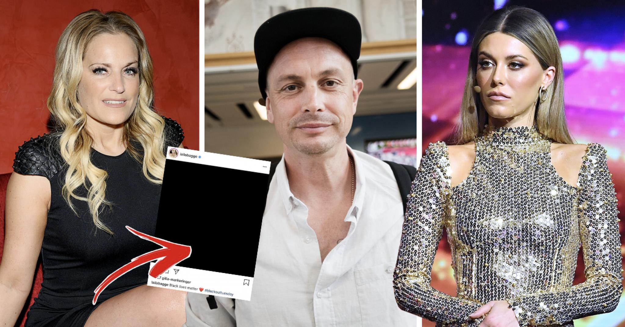 Svenska kändisarna stöttar Blackout Tuesday – det här innebär dagen