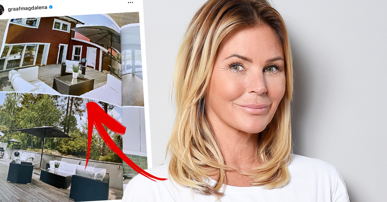 Magdalena Graaf visar upp nya huset – efter separationen från Filip Larsson