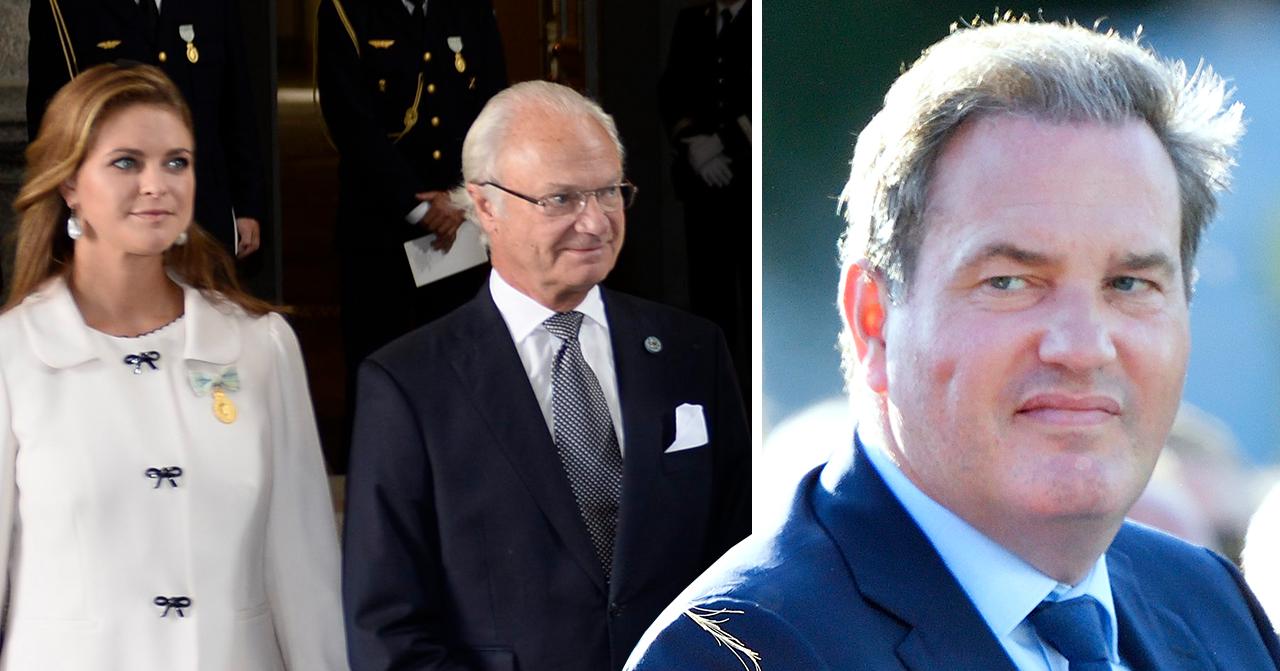 Prinsessan Madeleine, kung Carl XVI Gustaf, Chris O'Neill