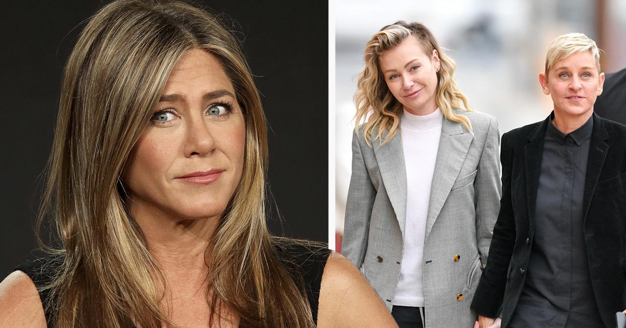 Jennifer Anistons uppges ha varit otrogen med Ellen