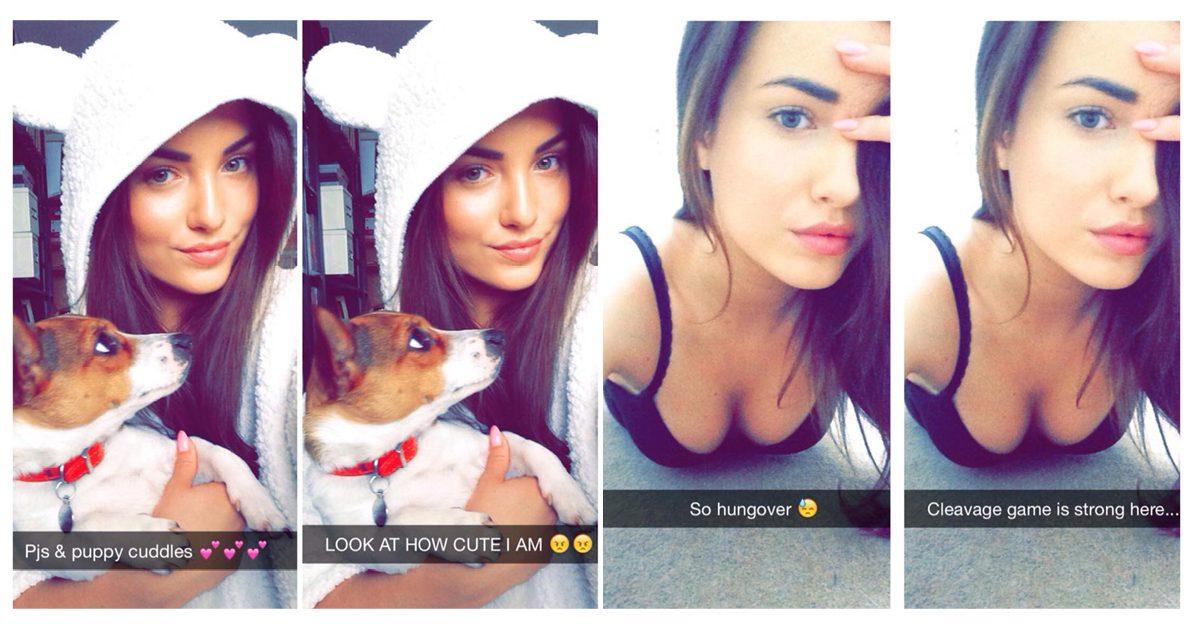 Snapchat tjej