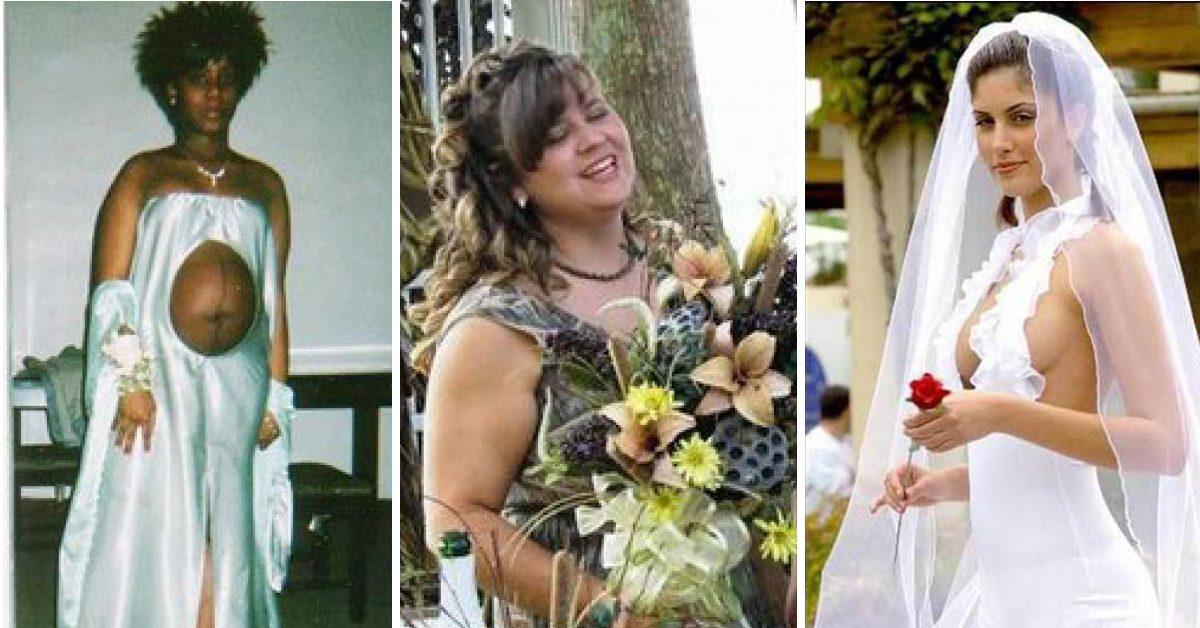 544f7d7633f9 19 hiskeliga bröllopsklänningar som ingen borde få gifta sig i