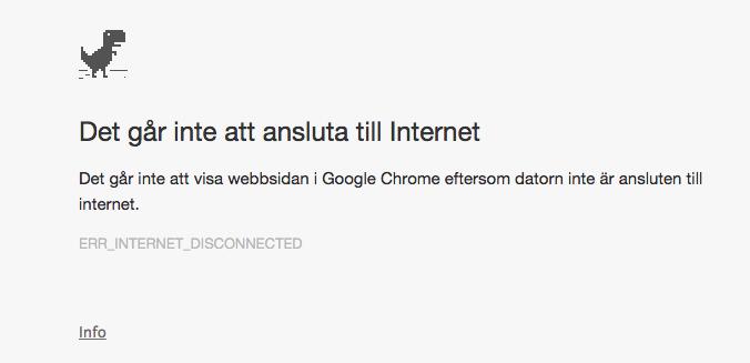 varför fungerar inte internet