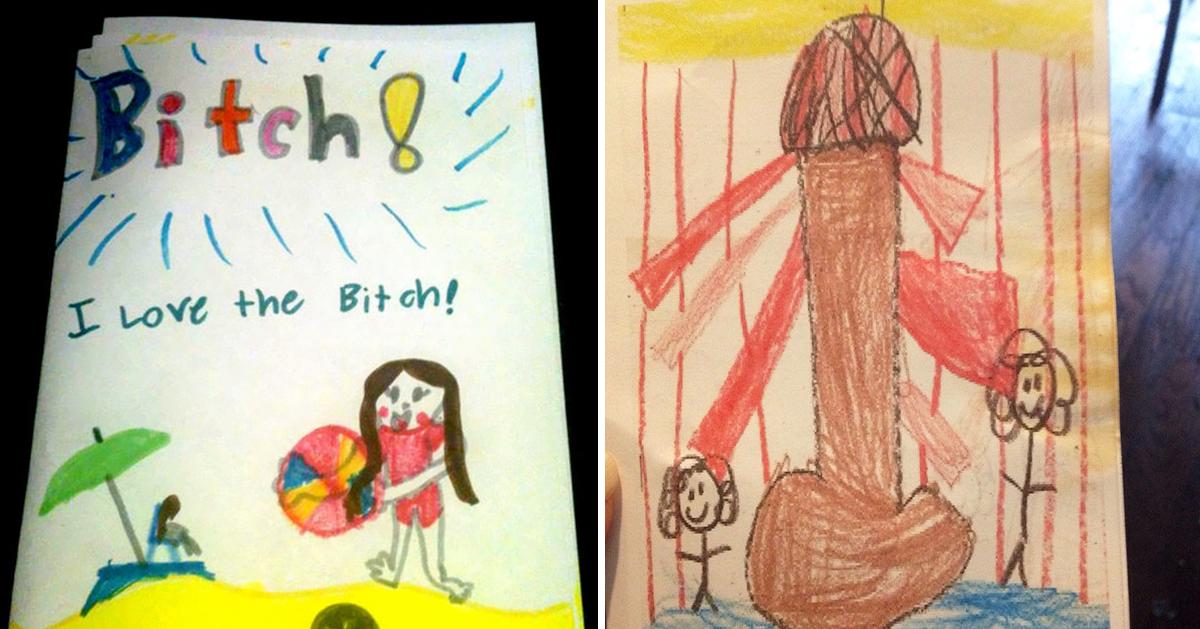 15 barnteckningar som råkar föreställa något HELT annat