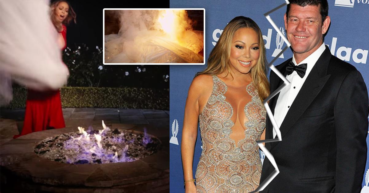 b3203bd91399 Mariah Carey eldar upp sin brudklänning för 2,1 miljoner | Hänt.se