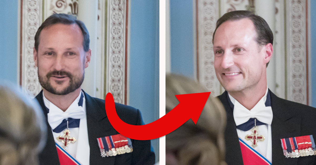 Prins Haakon tvingades raka sig – mitt under middagen med Silvia