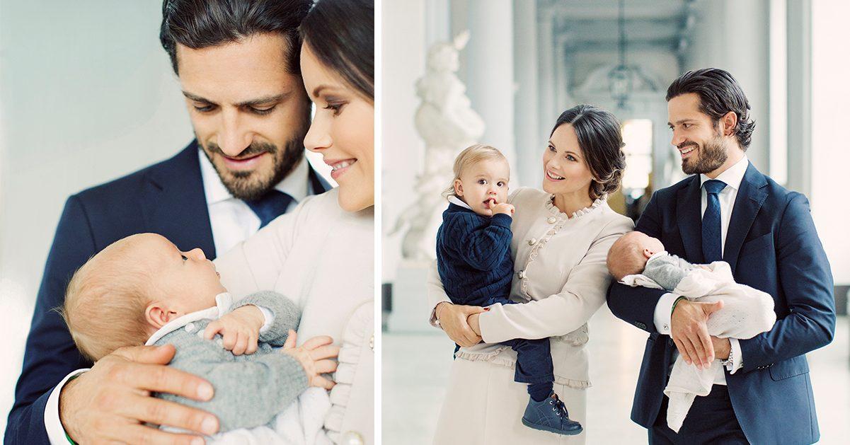 Prinsparets tack till svenska folket – visar nya bilder på prins Gabriel