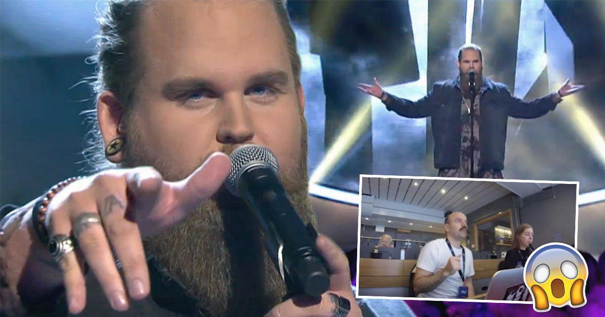 Se Idol-Chris magiska framträdande – som får hela kontrollrummet att stanna