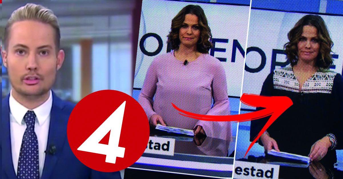 Därför tvingas TV4-profilen byta kläder – i direktsändning