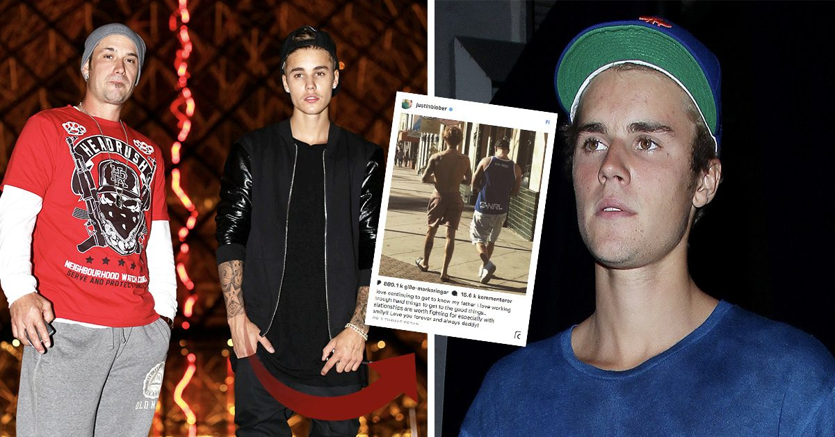 Efter familjesveket – nu hyllar Justin Bieber sin pappa