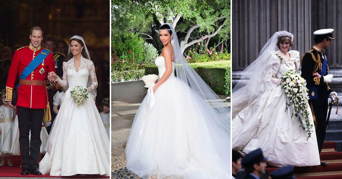 Kändisarnas brudklänningar genom tiderna – spana in hemliga prislapparna