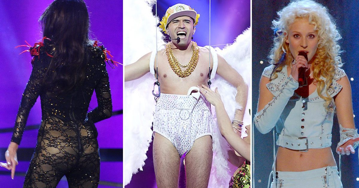 Här är de 11 galnaste kläderna i Melodifestivalen genom åren – kommer du ihåg dem?