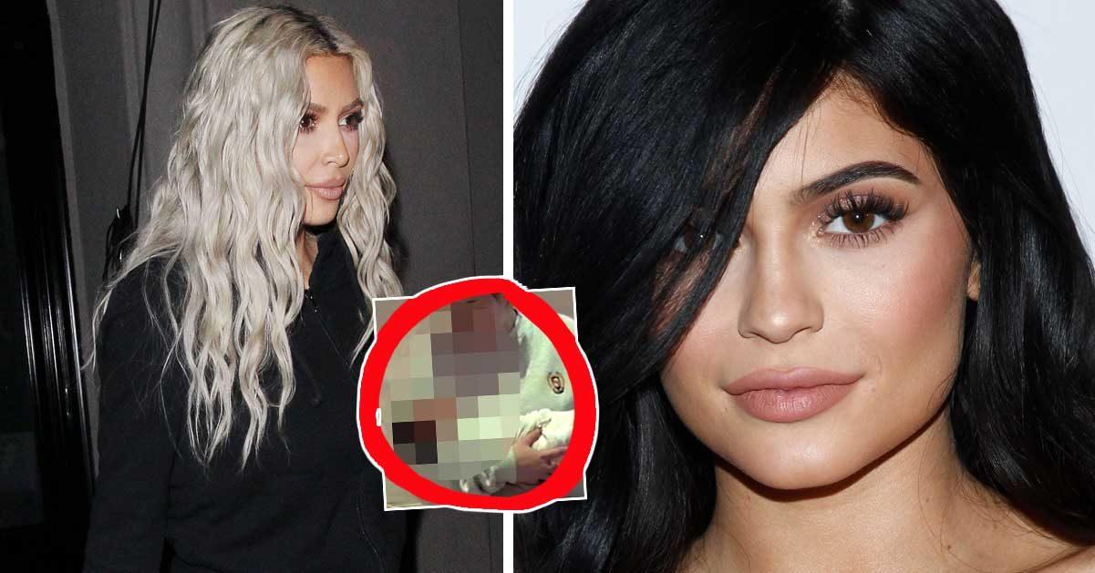 Fansens chock efter Kylie Jenners bild på Kim Kardashians bebis: