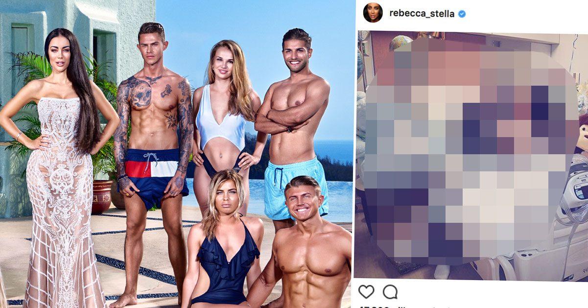 Följarna häpnar efter Rebecca Stellas bild från förlossningen: