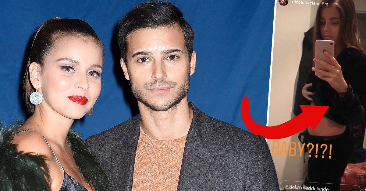 Eric Saades flickvän Nicole berättar sanningen om magbilden