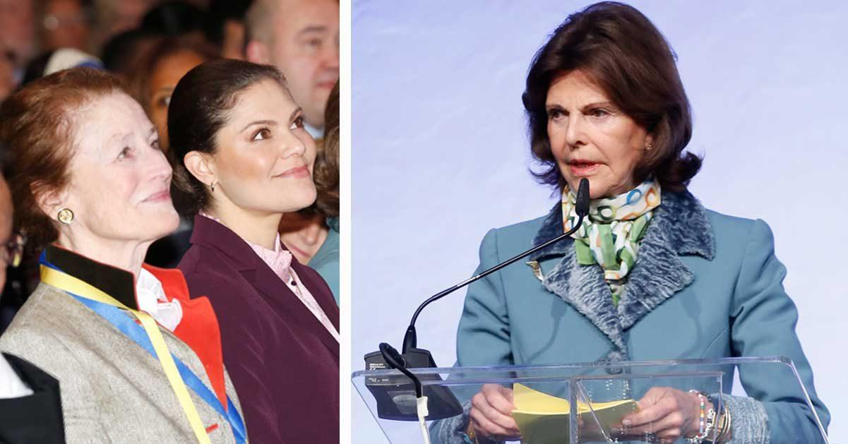 Här bryter drottning Silvia mot regeln – framför Victoria