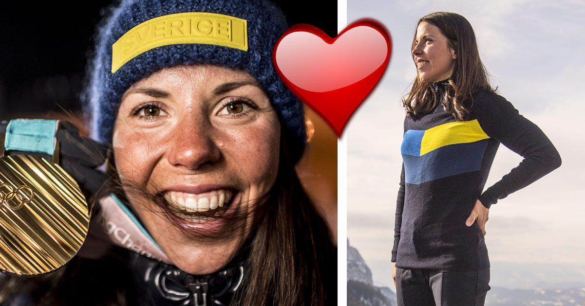 Charlotte Kalla avslöjar kärlekshemligheten: Därför tar jag OS-guld