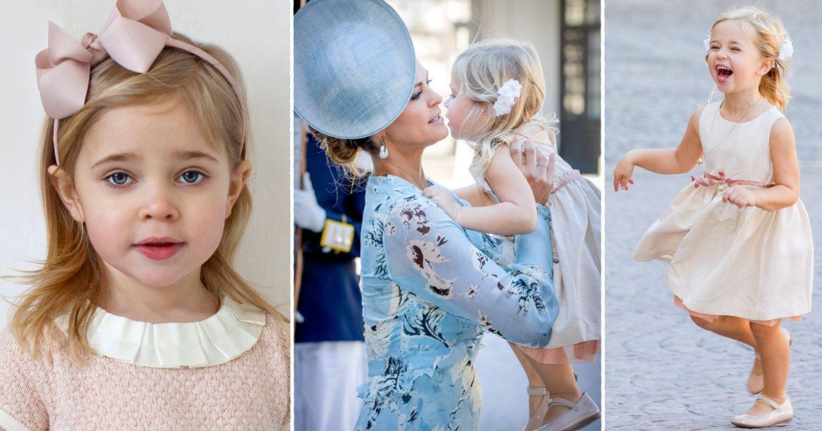 Grattis Leonore, 4 år! Här är de allra gulligaste bilder på den lilla prinsessan