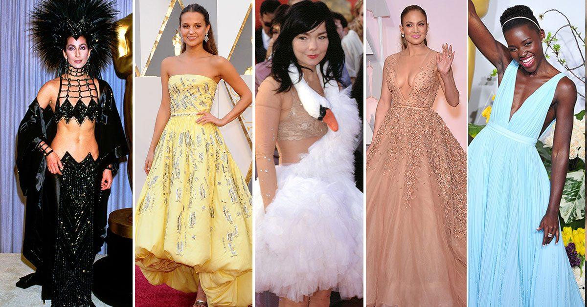 Wow! Här är de 42 mest minnesvärda klänningarna från röda mattan på Oscarsgalan – genom tiderna