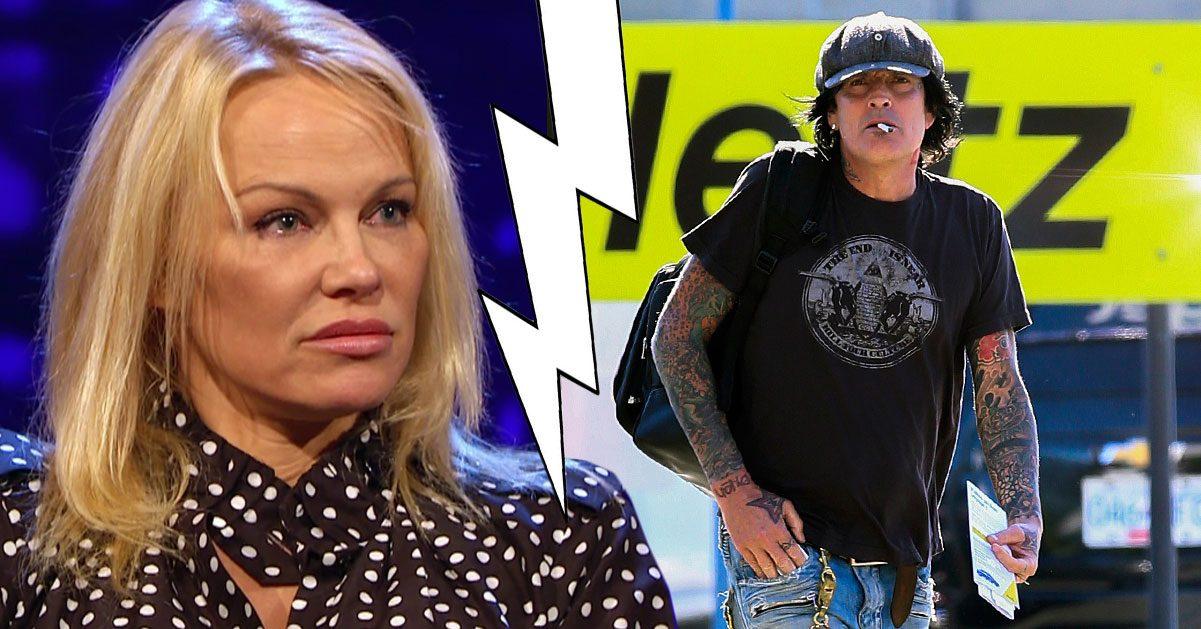Pamela Andersons ilska efter exmakens blodiga bråk med sonen Brandon