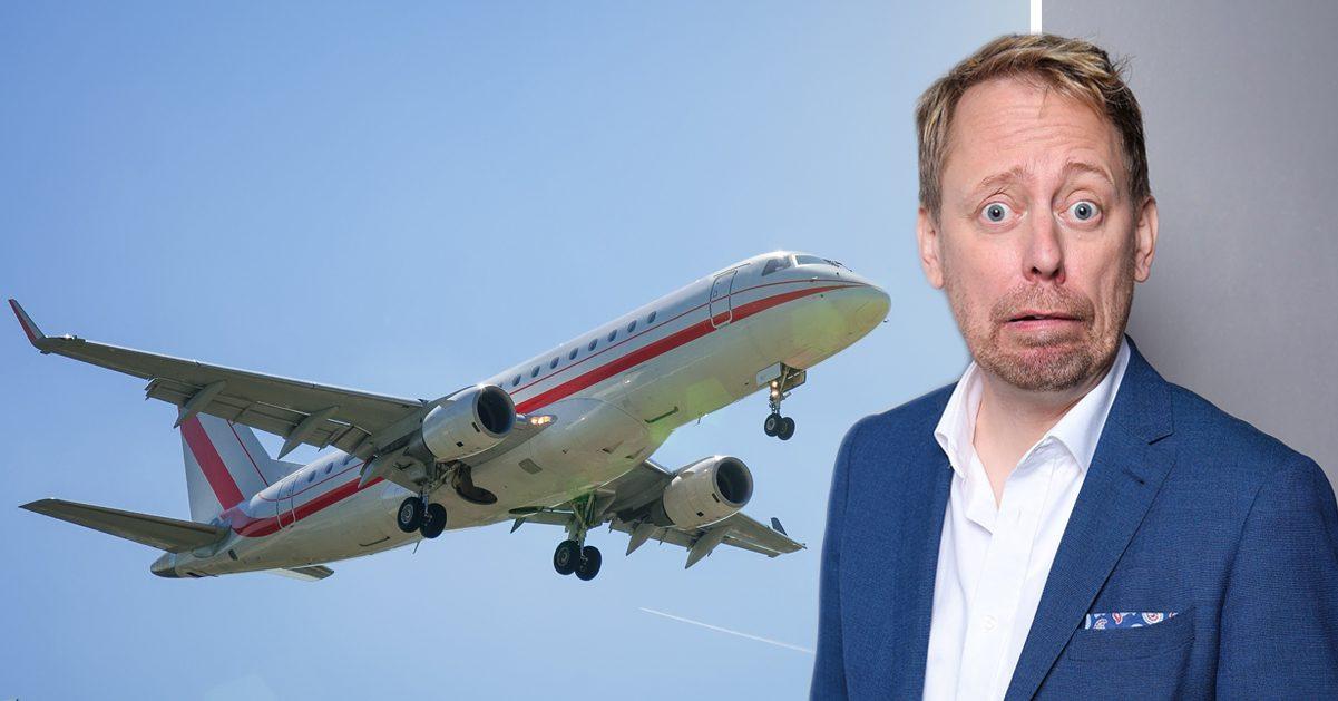 Peter Settman skapade kaos på flyg över Atlanten:
