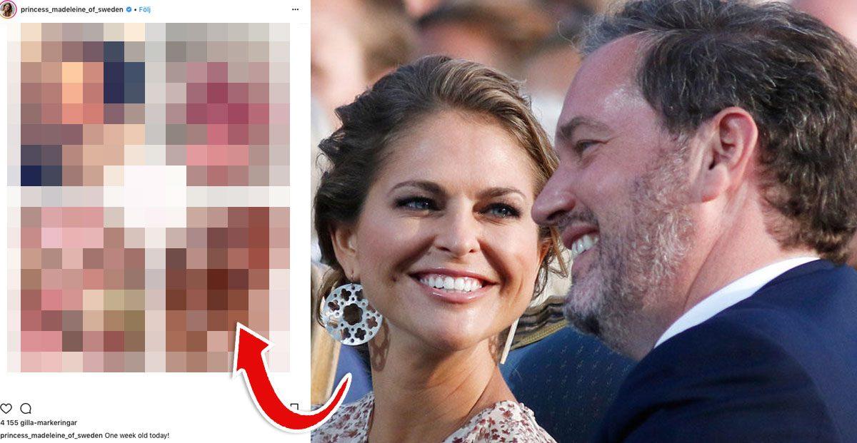Prinsessan Madeleines privata bild på lilla Adrienne gör succé: