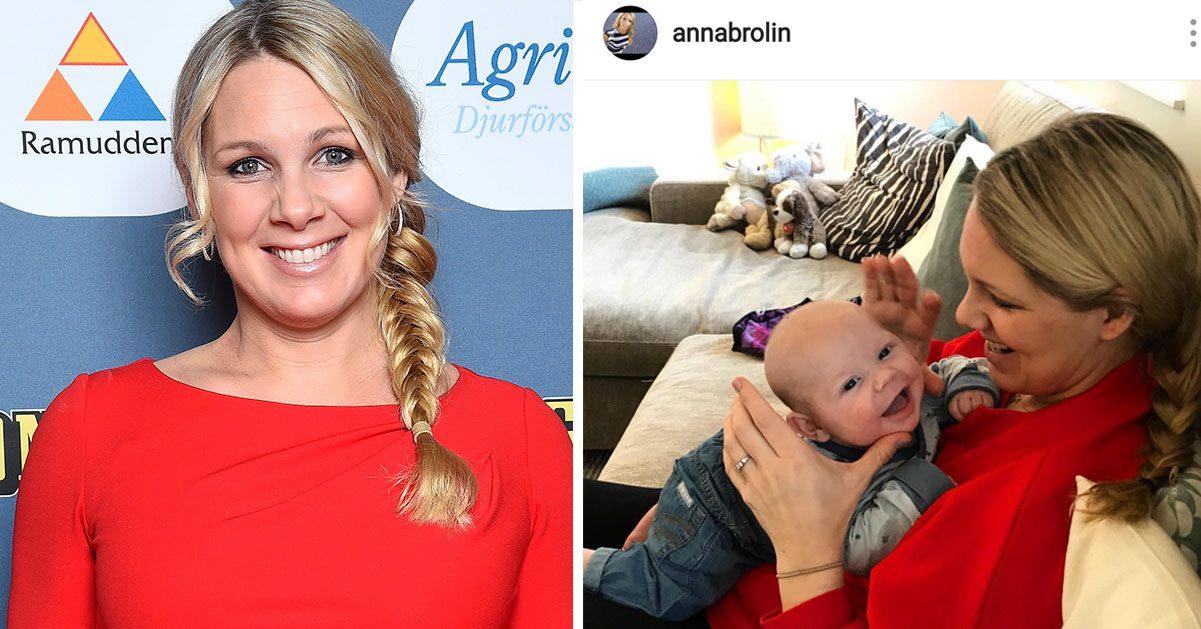 Efter mardrömsdygnen – det ska Anna Brolins bebis heta