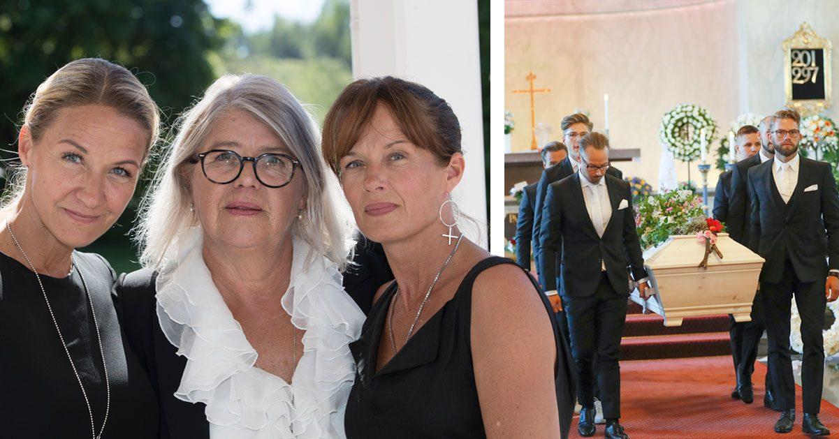 """Familjens vackra farväl till Barbro """"Lill-Babs"""" Svensson – här förs hon till sista vilan"""