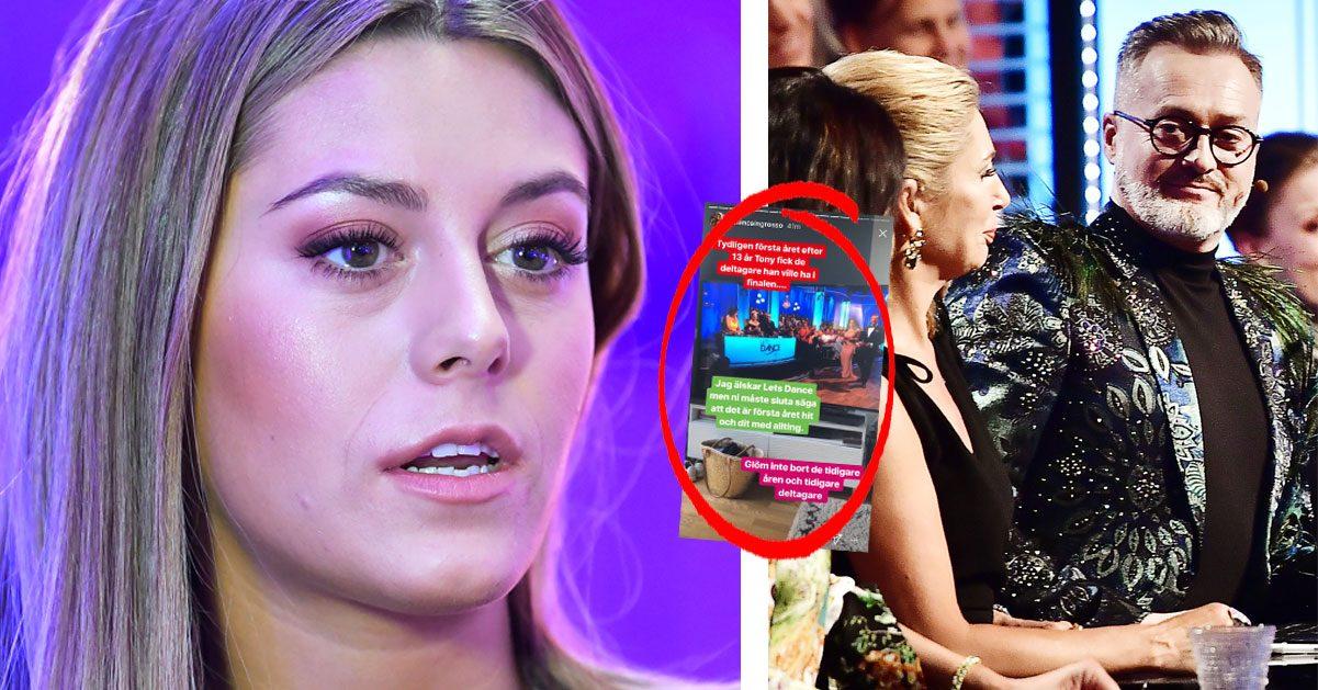 Bianca Ingrosso rasar mot Tony Irving efter orden i TV4:s direktsändning