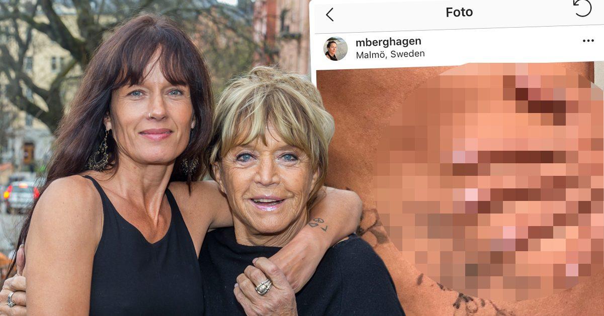 Malin Berghagen har gjort nagelförlängning för att hylla sin bortgångne mamma Barbro