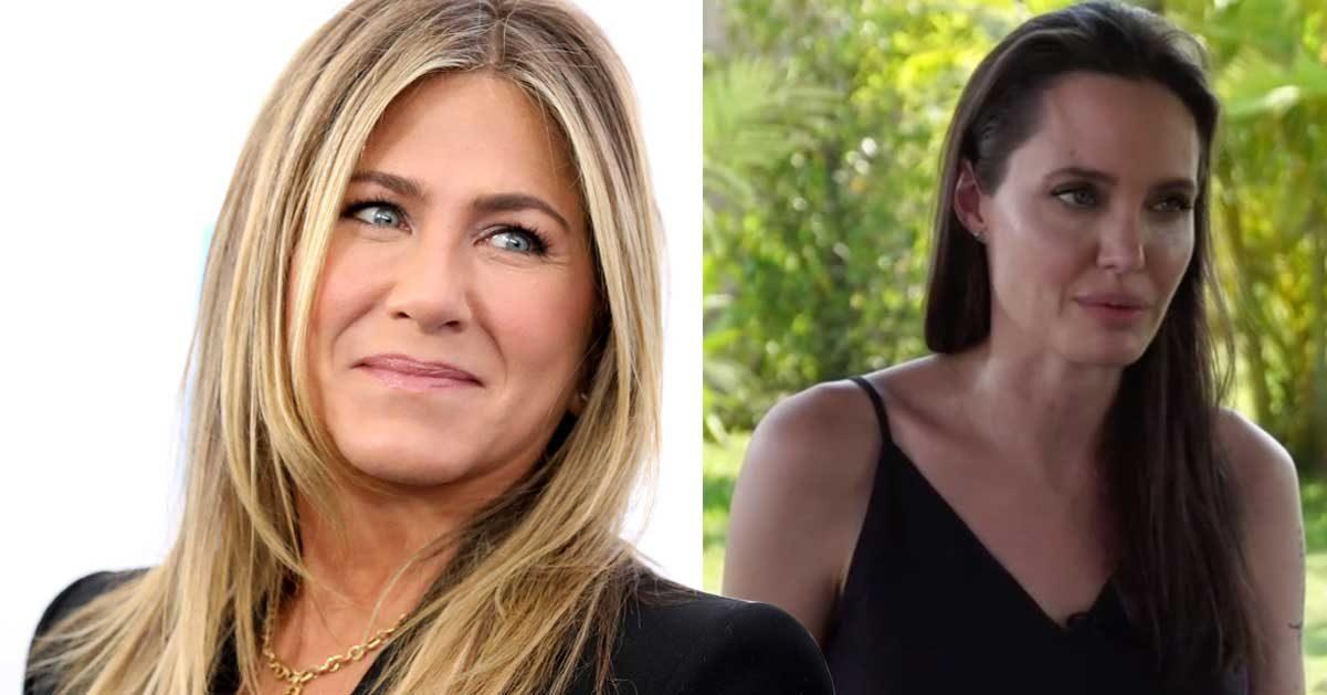 Jennifer Aniston glad över Angelina Jolies olycka