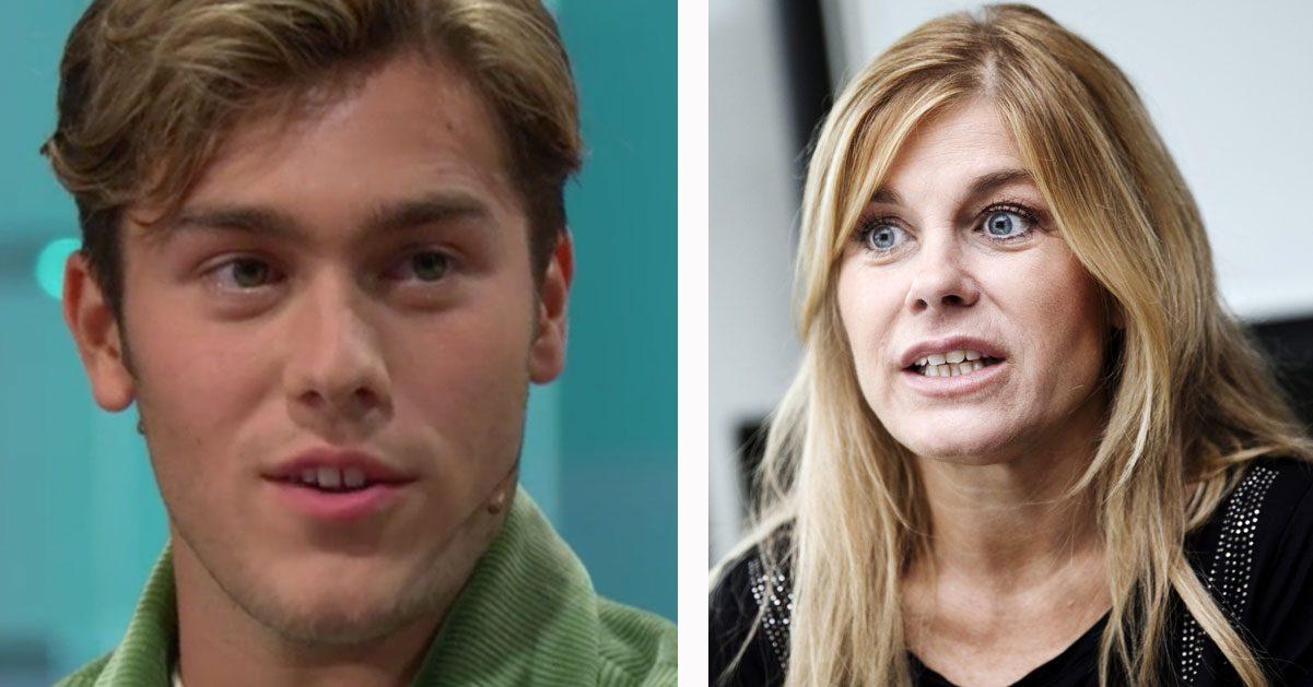 Benjamin Ingrosso bor hemma hos Pernilla Wahlgren
