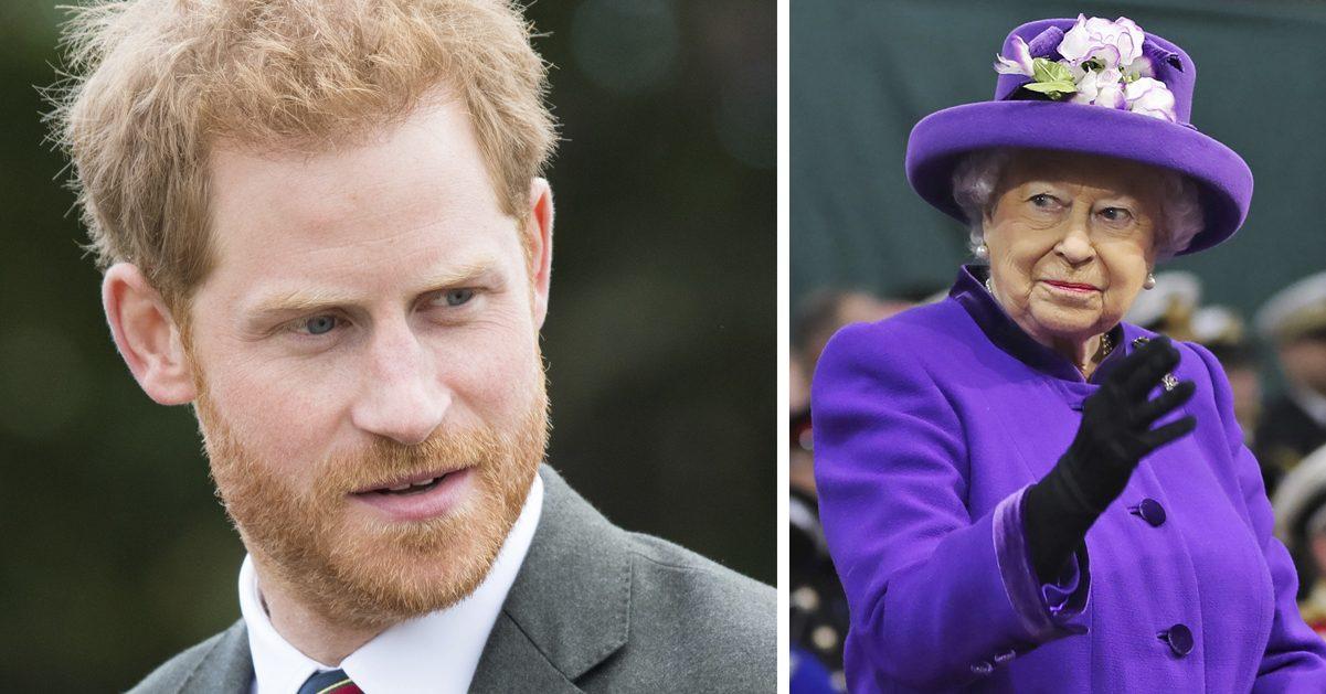 Prins Harry panik av att träffa drottning Elizabeth