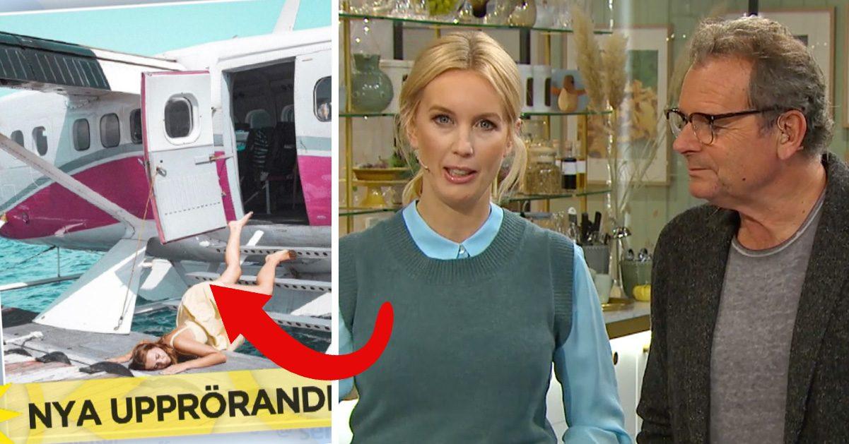 Jenny Strömstedt och Steffo Törnquist i nyhetsmorgon TV4