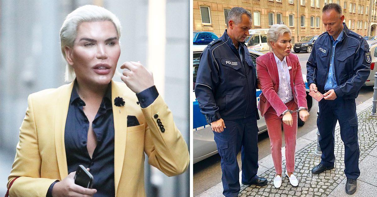Rodrigo Alves, mer känd som den mänskliga Ken-dockan, har gripits i Berlin.
