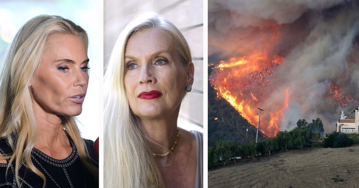 Svenska Hollywoodfruarna Anna Anka och Gunilla Persson drabbas av bränderna i Kalifornien 2018
