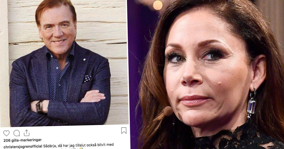 Christer Sjögren har skaffat Instagram, grattas av Tilde de Paula Eby
