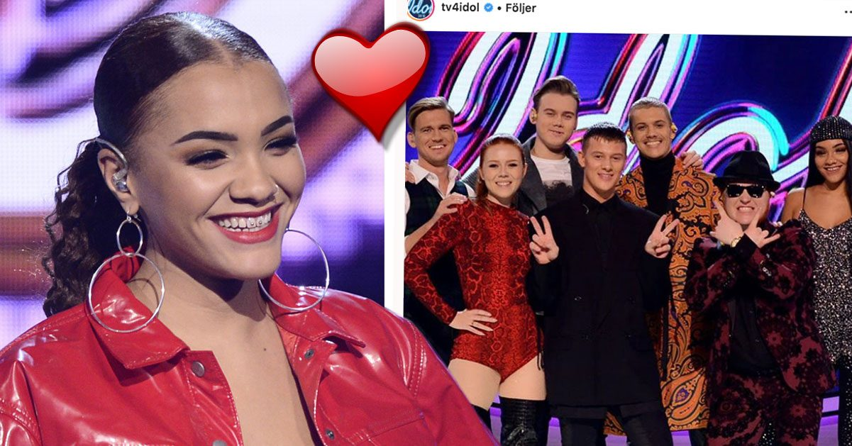 Kadiatou Holm och William Strid har en romans Idol 2018